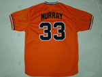 Baltimore Orioles #33 Eddie Murray 1982 Throwback Orange Jersey