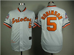 Baltimore Orioles #5 Brooks Robinson Throwback White Jersey