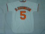 Baltimore Orioles #5 Brooks Robinson Throwback Cream Jersey