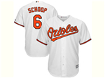 Baltimore Orioles #6 Jonathan Schoop White Cool Base Jersey