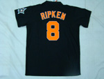 Baltimore Orioles #8 Cal Ripken, Jr Throwback Black Jersey