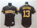 San Diego Padres #13 Manny Machado Brown 50th Anniversary Flex Base Jersey