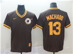 San Diego Padres #13 Manny Machado Cooperstown Throwback Brown Jersey
