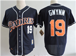 San Diego Padres #19 Tony Gwynn 1998 Navy Cooperstown Colletcion Jersey