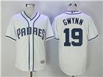 San Diego Padres #19 Tony Gwynn 2017 White Cool Base Jersey