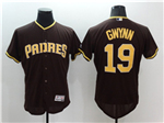 San Diego Padres #19 Tony Gwynn Brown Flex Base Jersey