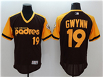 San Diego Padres #19 Tony Gwynn Brown Cooperstown Flex Base Jersey