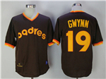 San Diego Padres #19 Tony Gwynn 1982 Throwback Brown Jersey