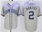 San Diego Padres #2 Johnny Manziel Grey Cool Base Jersey
