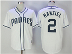 San Diego Padres #2 Johnny Manziel White Cool Base Jersey