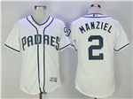 San Diego Padres #2 Johnny Manziel 2017 White Flex Base Jersey