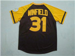 San Diego Padres #31 Dave Winfield 1978 Throwback Brown Jersey
