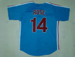 Philadelphia Phillies #14 Pete Rose 1980 Throwback Blue Jersey