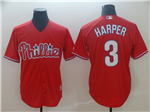 Philadelphia Phillies #3 Bryce Harper Red Cool Base Jersey