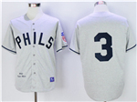 Philadelphia Phillies #3 Chuck Klein 1942 Throwback Gray Jersey