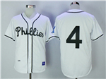 Philadelphia Phillies #4 Jimmie Foxx 1945 Throwback White Jersey