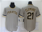 Pittsburgh Pirates #21 Roberto Clemente Gray 2020 Cooperstown Collection Cool Base Jersey