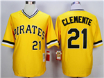Pittsburgh Pirates #21 Roberto Clemente 1971 Throwback Gold Jersey