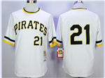 Pittsburgh Pirates #21 Roberto Clemente 1971 Throwback White Jersey