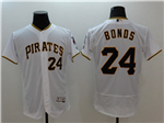Pittsburgh Pirates #24 Barry Bonds White Flex Base Jersey