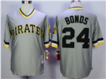 Pittsburgh Pirates #24 Barry Bonds Throwback Grey Jersey