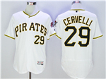 Pittsburgh Pirates #29 Francisco Cervelli White Flex Base Jersey