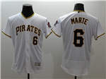 Pittsburgh Pirates #6 Starling Marte White Flex Base Jersey