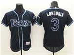 Tampa Bay Rays #3 Evan Longoria Navy Blue Flex Base Jersey