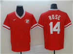Cincinnati Reds #14 Pete Rose Throwback Red Jersey