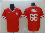 Cincinnati Reds #66 Yasiel Puig Throwback Red Jersey