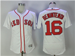 Boston Red Sox #16 Andrew Benintendi White Flex Base Jersey