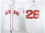 Boston Red Sox #26 Wade Boggs Throwback White Jersey