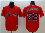 Boston Red Sox #28 J.D. Martinez Red Cool Base Jersey