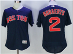 Boston Red Sox #2 Xander Bogaerts Navy Flex Base Jersey
