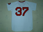 Boston Red Sox #37 Bill Lee 1975 Throwback White Jersey
