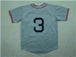 Boston Red Sox #3 Jimmie Foxx 1936 Throwback Grey Jersey