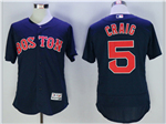 Boston Red Sox #5 Nomar Garciaparra Navy Flex Base Jersey