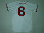 Boston Red Sox #6 Johnny Pesky 1946 Throwback Cream Jersey