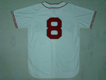 Boston Red Sox #8 Carl Yastrzemski Throwback Cream Jersey