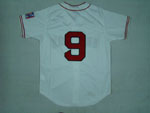Boston Red Sox #9 Ted Williams Throwback Cream Jersey