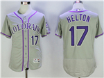 Colorado Rockies #17 Todd Helton Grey Flex Base Jersey