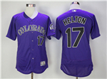 Colorado Rockies #17 Todd Helton Purple Flex Base Jersey