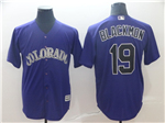 Colorado Rockies #19 Charlie Blackmon Purple Cool Base Jersey
