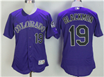Colorado Rockies #19 Charlie Blackmon Purple Flex Base Jersey
