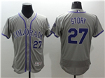 Colorado Rockies #27 Trevor Story Grey Flex Base Jersey