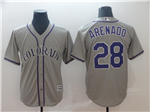 Colorado Rockies #28 Nolan Arenado Gray Cool Base Jersey