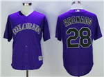 Colorado Rockies #28 Nolan Arenado Purple Cool Base Jersey
