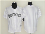 Colorado Rockies White Pinstripe Cool Base Team Jersey