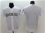 Colorado Rockies White Pinstripe Flex Base Team Jersey