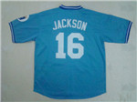 Kansas City Royals #16 Bo Jackson Throwback Light Blue Jersey